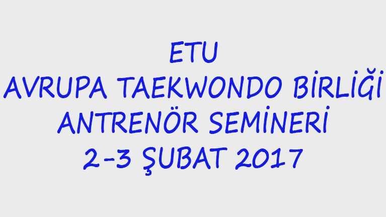 Taekwondo Antrenör Semineri