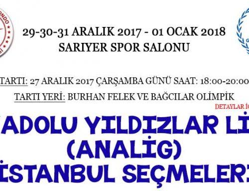 Anadolu Yıldızlar Ligi (ANALİG) İstanbul Seçmeleri
