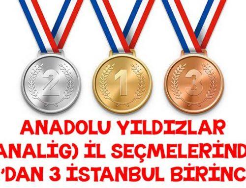 Anadolu Yıldızlar Liginde 3 Birinci